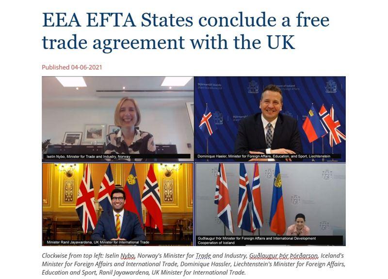 Die EFTA-EWR Staaten und UK sind sich einig!
